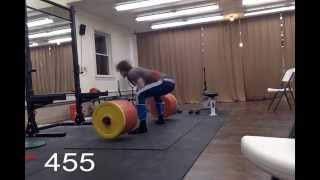 David Laid 16 Year Old 455lb Deadlift @185lb