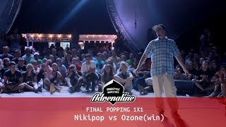 NikkiPop vs Ozone - Finał Popping 1vs1 na Adrenaline Fest World Final Z-Games 2016
