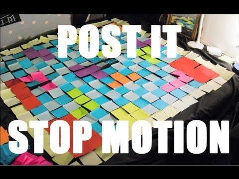 Videojuegos en un stop motion hecho con post its