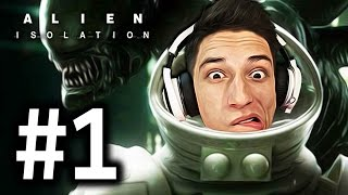 Alien: Isolation Gameplay Прохождение Часть 1 - САМАЯ АТМОСФЕРНАЯ ИГРА!