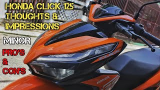 HELMOTOR PH - HONDA CLICK 125i GAME CHANGER THOUGHTS AND IMPRESSIONS (MINOR PRO'S AND CON'S)