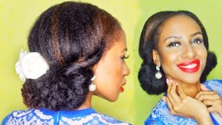 EASY ELEGANT UPDO in 3 Minutes -  NATURAL HAIR
