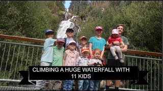 CLIMBING STEAVENSON FALLS WITH 11 KIDS!! Almost Traveling Large Family