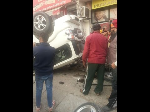 accident scorpio accident in  patiala gate nabha