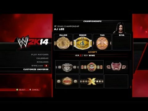 WWE 2K14: Universe Mode Walkthrough With New Features! (Rivalry Manager. NXT Championship & More!)