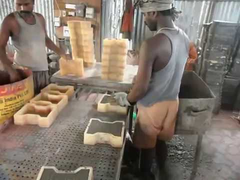 Paver Block Making Process / paver tiles manufacturing process