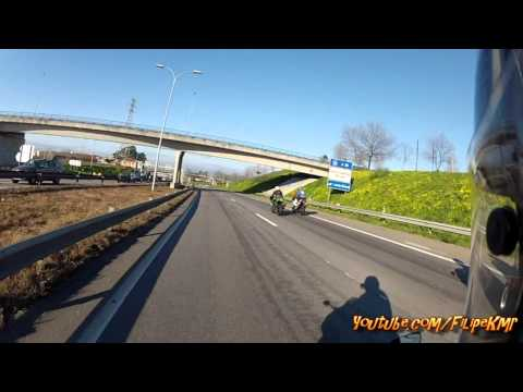 HONDA CBR 600 RR GROUP RIDE VILA DO CONDE - GOPRO HERO2