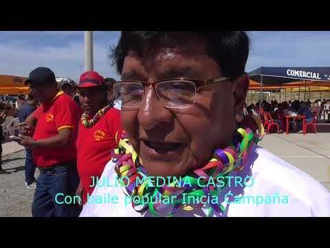 JULIO MEDINA CASTRO INICIA CAMPAÑA POLÍTICA AL MUNICIPIO  PROVINCIAL