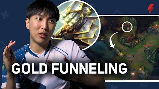 Doublelift explains the gold funneling strat (and why he hates it) - LoL Pro Tips