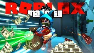 OPGESLOTEN IN DE BANK MET RAY GUN !! 🔫   Roblox Mad City #3