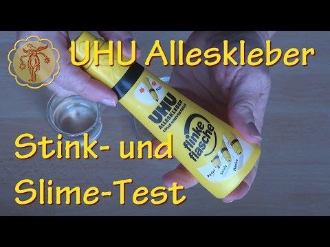 Stink- und Slime-Test: Schleim mit UHU Alleskleber