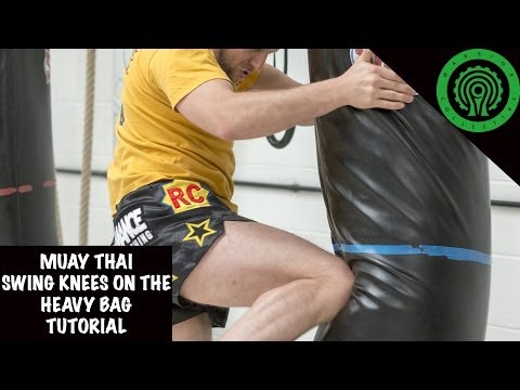 Muay Thai Swing Knees on the Heavy Bag Tutorial Image 1