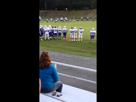 Hunter Sims gets loose! Touchdown! Riverside Military Academy! - 08/17/2014