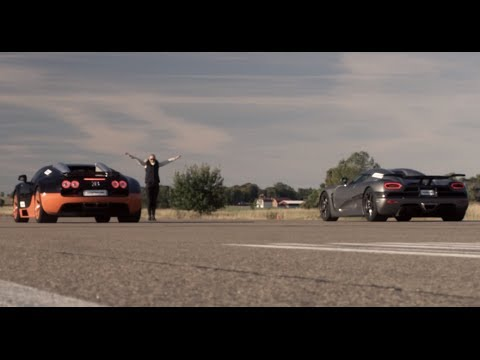 Ultra HD 4K RACE from dig 1200 HP Bugatti Veyron Vitesse vs Koenigsegg Agera R- presented by Samsung