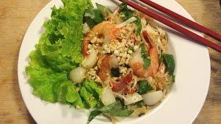 HOW TO: Seafood Instant Noodle Salad | វិធីធ្វើម្ហូប-ញាំមីកញ្ចប់គ្រឿងសាមុទ្រ