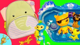 Wild Animals Hiding in Backpacks! Learn Animals and Colors in Blue Water by Squishee Nugget