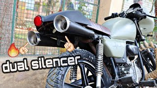Only 1 splendor + in india with modified dual silencer under the seat | best modifications in 2019