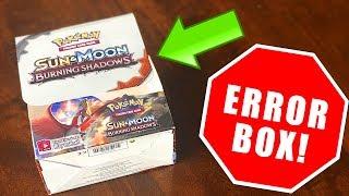 OPENING A *ERROR* POKEMON CARDS BOOSTER BOX! (insane)