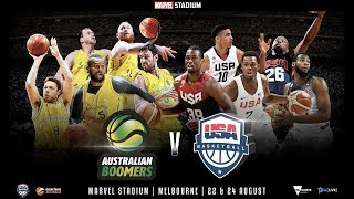 USA vs Australia ● Full Game Highlights ● 2019 FIBA World Cup Preparation (August 22, 2019)
