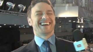 James McAvoy on Kissing Fassbender