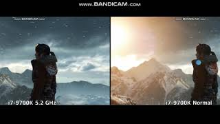 i7-9700K OC 5.2 GHz vs Normal Rise of the Tomb Raider Test