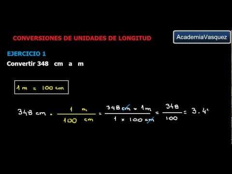 Conversiones de Unidades de Longitud, Ejercicio 1