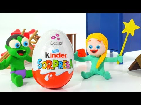 Frozen Elsa Baby Hulk Giant Surprise Egg Superhero Babies Play Doh Cartoons Stop Motion