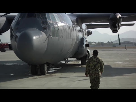 Afghan Air Force Receives C-130's at Kabul International Airport