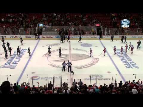 Last 1:45 of game, handshakes. May 12 2013 Detroit Red Wings vs Anaheim Ducks NHL Hockey