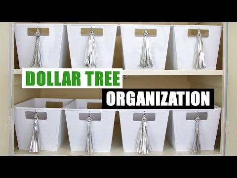DIY DOLLAR TREE STORAGE BINS Dollar Store DIY Organizing DIY Home Organization