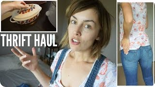 THRIFT HAUL: HOME & FALL FASHION TRY ON | AmandaMuse