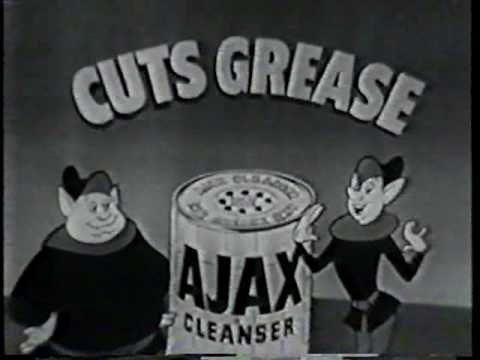 Hilarious old Ajax Cleaner commercial from the 50s, featuring singing