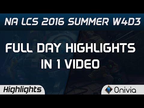 NA LCS Full W4D3 Highlights C9 vs NRG NV vs TSM P1 vs CLG APX vs FOX Summer 2016
