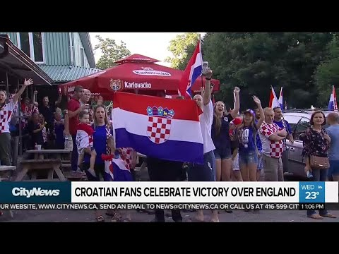 Croatian fans celebrate team's advance to World Cup finals thumbnail