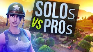 Queuing vs Pro Players in Solos (Fortnite Win)