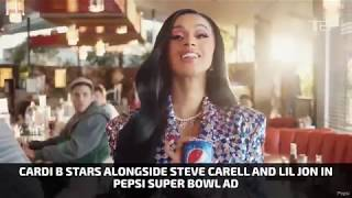 Cardi B Stars Alongside Steve Carell and Lil Jon in Pepsi Super Bowl Ad