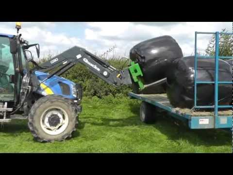 Silage 2011 - Bale Collecting with New Holland 5060. Plus . . . . .