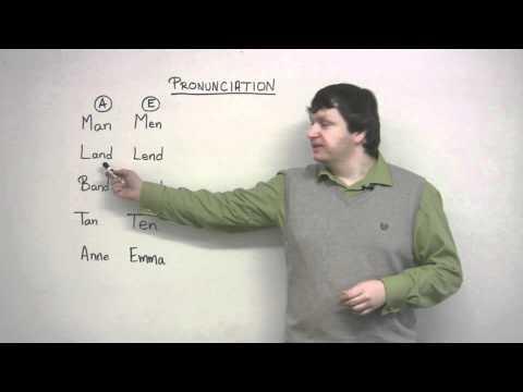 English Pronunciation – A & E (Man vs. Men)