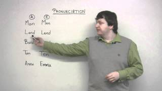 English Pronunciation - A & E (Man vs. Men)