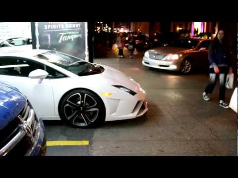 2013 White Lamborghini Gallardo LP560-4 - Times Square Parking Garage