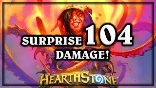 Surprise 104 Damage! ~ Knights of the Frozen Throne Expansion Hearthstone Heroes of Warcraft
