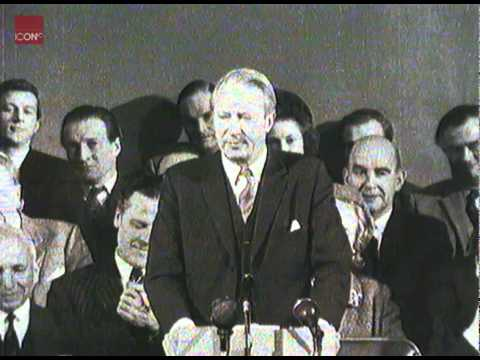 Edward Heath speaking about the resignation of Deputy PM George Brown