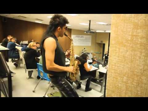 Thumbnail of video Sexy Sax Man (Careless Whisper Saxophone Prank!!) directors cut