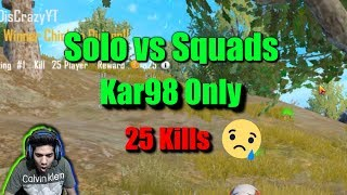 Funny Moments😂 in Solo vs Squads War Mode Kar98K Only Pubg Mobile