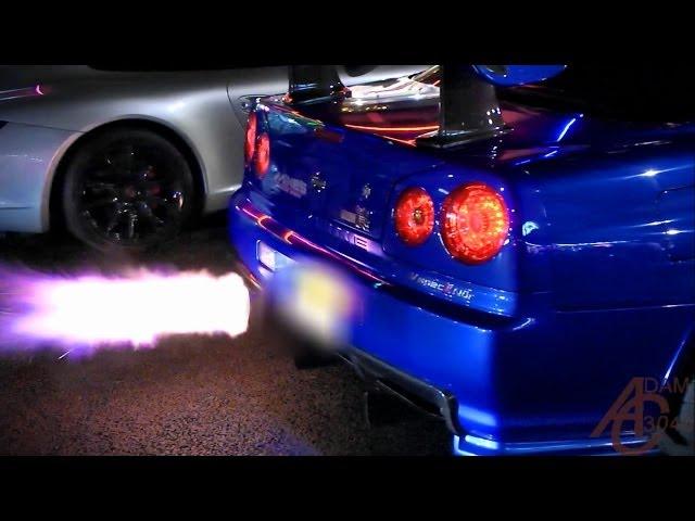 Nissan Skyline GTR R34 - Anti-Lag, LAUNCHES! - YouTube