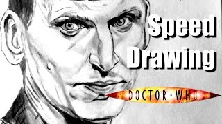 SPEED DRAWING #8 - Christopher Eccleston - Doctor who