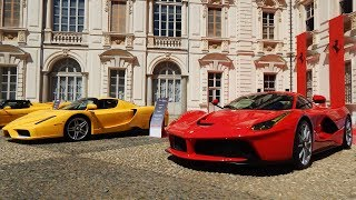 Salone del Valentino 2017: 70th Anniversary Ferrari -1: Laferrari, 599XX, Enzo, F40...HD