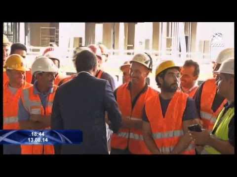 Politica: la prima visita di Matteo Renzi ai cantieri dell'Expo