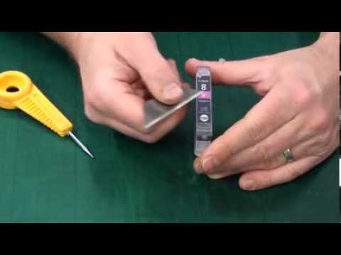 Modifying Canon inkjet cartridges for Top-fill refilling