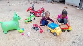 My Kiddy: Kids playing toys truck car on sand | Toys for kids